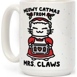 Meowy Catmas From Mrs. Claws Mug from LookHUMAN