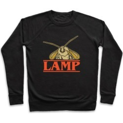 Lamp Moth Stranger Things Parody White Print Pullover from LookHUMAN