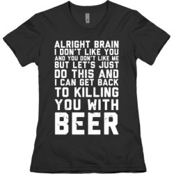Alright Brain T-Shirt from LookHUMAN