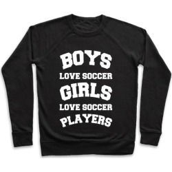 Boys and Girls Love Soccer Pullover from LookHUMAN