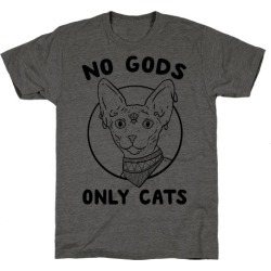 No Gods Only Cats T-Shirt from LookHUMAN