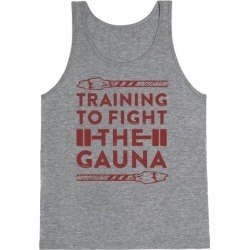 Training to Fight the Gauna Tank Top from LookHUMAN