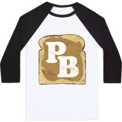 PB and J (Peanut Butter) Baseball Tee from LookHUMAN