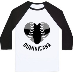 Dominican Baseball Love (Baseball Tee) Baseball Tee from LookHUMAN