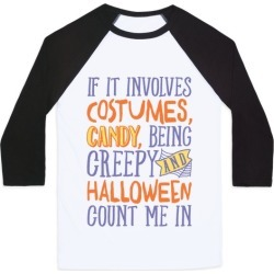 Halloween Count Me In Baseball Tee from LookHUMAN