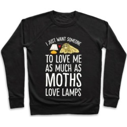 I Just Want Someone To Love Me As Much As Moths Love Lamps Pullover from LookHUMAN