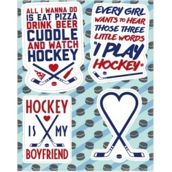 Girly Hockey Stickers from LookHUMAN