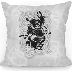 Jackalope In The Woods Throw Pillow from LookHUMAN found on Bargain Bro Philippines from LookHUMAN for $37.99