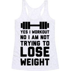 Yes I Workout Racerback Tank from LookHUMAN