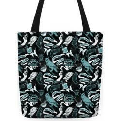 Do Androids Dream Sci Fi Pattern (grey) Tote Bag from LookHUMAN
