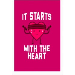 It Starts With The Heart Poster from LookHUMAN found on Bargain Bro India from LookHUMAN for $30.00