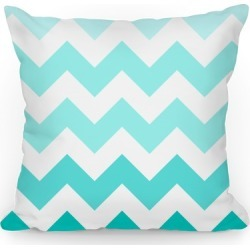 Chevron Pillow (Diamond Blue) Throw Pillow from LookHUMAN
