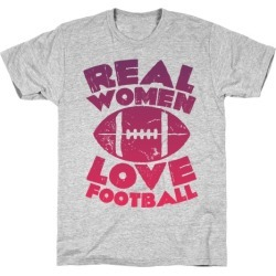 Real Women Love Football T-Shirt from LookHUMAN