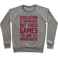 Education Is Important But Video Games Are Importanter Pullover from LookHUMAN