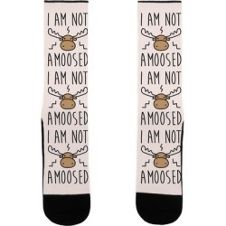 I Am Not Amoosed Socks from LookHUMAN