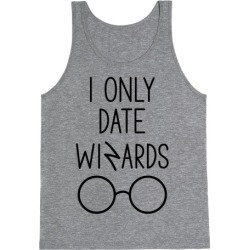 I Only Date Wizards Tank Top from LookHUMAN