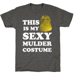 This Is My Sexy Mulder Costume (White Ink) T-Shirt from LookHUMAN found on Bargain Bro Philippines from LookHUMAN for $25.99
