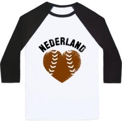 Nederland Baseball Love (Baseball Tee) Baseball Tee from LookHUMAN