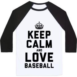Keep Calm and Love Baseball Baseball Tee from LookHUMAN