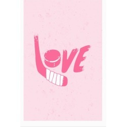 Love Hockey Poster from LookHUMAN