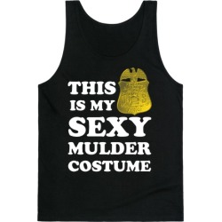 This Is My Sexy Mulder Costume (White Ink) Tank Top from LookHUMAN found on Bargain Bro Philippines from LookHUMAN for $25.99