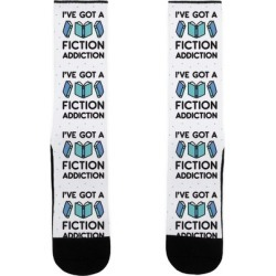 I've Got A Fiction Addiction Socks from LookHUMAN