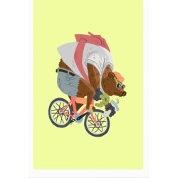 Fixed Gear Bear Poster from LookHUMAN found on Bargain Bro Philippines from LookHUMAN for $23.00