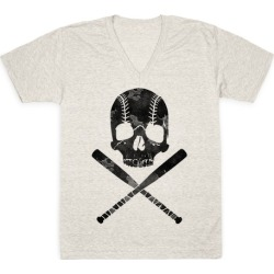 Baseball Roger V-Neck T-Shirt from LookHUMAN found on Bargain Bro from LookHUMAN for USD $21.27