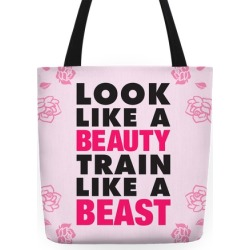Look Like A Beauty, Train Like A Beast Tote Bag from LookHUMAN found on Bargain Bro Philippines from LookHUMAN for $27.99