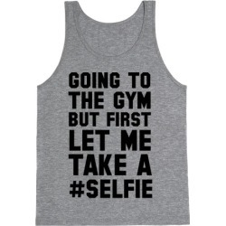Going to the Gym Tank Top from LookHUMAN