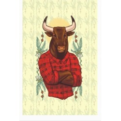Flannel Taurus Poster from LookHUMAN found on Bargain Bro India from LookHUMAN for $30.00