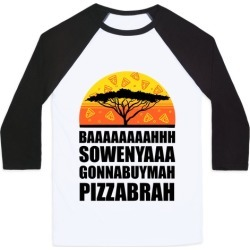 Gonna Buy Mah Pizza Brah Baseball Tee from LookHUMAN