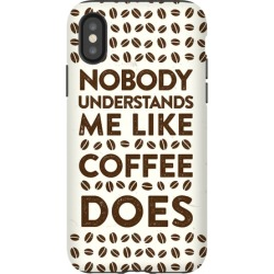 Nobody Understands Me Like Coffee Does Phone Case from LookHUMAN