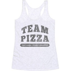 Team Pizza Racerback Tank from LookHUMAN