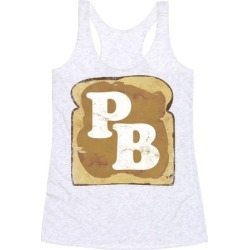 PB and J (Peanut Butter) Racerback Tank from LookHUMAN