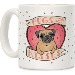 Pugs And Kisses Mug from LookHUMAN