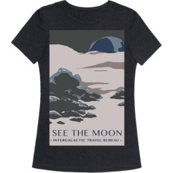 Space Travel - The Moon T-Shirt from LookHUMAN found on Bargain Bro from LookHUMAN for USD $19.75