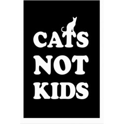 Cats Not Kids Poster from LookHUMAN