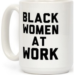 Black Women At Work Mug from LookHUMAN