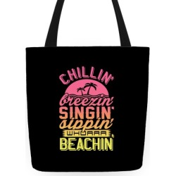 Beachin' Tote Bag from LookHUMAN
