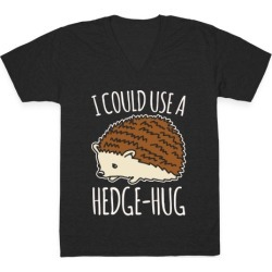 I Could Use A Hedge-Hug White Print V-Neck T-Shirt from LookHUMAN