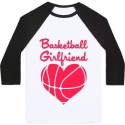 Basketball Girlfriend Baseball Tee from LookHUMAN