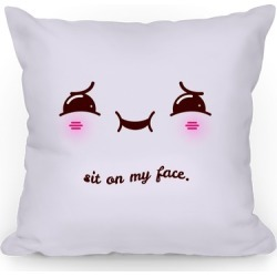 Sit on My Face Throw Pillow from LookHUMAN found on Bargain Bro Philippines from LookHUMAN for $26.99