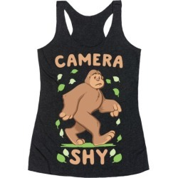 Camera Shy Racerback Tank from LookHUMAN found on Bargain Bro Philippines from LookHUMAN for $25.99