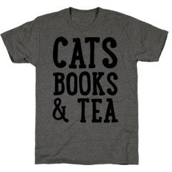 Cats, Books & Tea T-Shirt from LookHUMAN