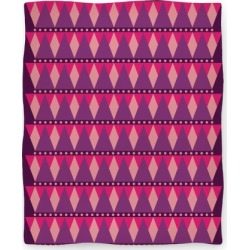 Pink Triangle Pattern Blanket Blanket from LookHUMAN found on Bargain Bro Philippines from LookHUMAN for $49.99