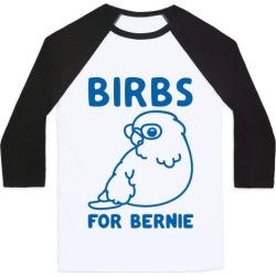 Birbs For Bernie Baseball Tee from LookHUMAN