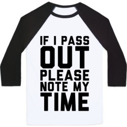 Please Note My Time Baseball Tee from LookHUMAN