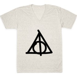 Deathly Hallows Doodle V-Neck T-Shirt from LookHUMAN found on Bargain Bro India from LookHUMAN for $27.99