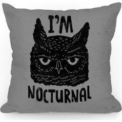 I'm Nocturnal Throw Pillow from LookHUMAN found on Bargain Bro from LookHUMAN for USD $20.51